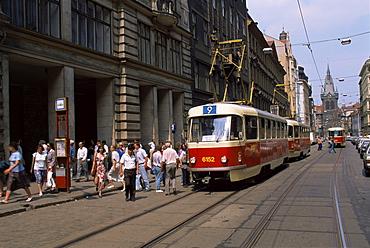 Trams, Prague, Czech Republic, Europe