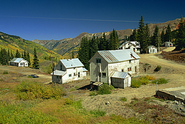 Old silver mines near Silverton, Colorado, United States of America, North America