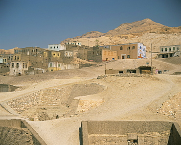 Tombs in the Valley of the Nobles, West Bank, Thebes, Luxor, Egypt, North Africa, Africa