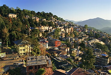 Gangtok in the early morning, Sikkim, India, Asia