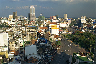 City skyline and modern construction of buildings in Ho Chi Minh City, formerly Saigon, Vietnam, Indochina, Southeast Asia, Asia