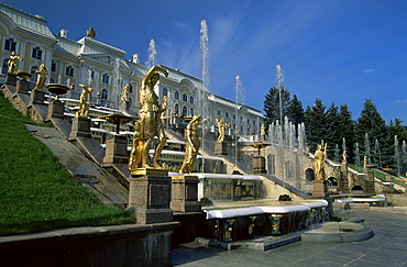 Summer Palace, Petrodvorets (Peterhof), near St. Petersburg, Russia, Europe