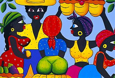 Cuban painting, Havana, Cuba, West Indies, Central America