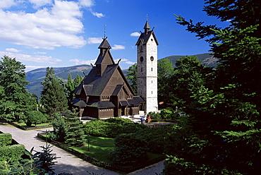 The Wang chapel, a 12th century Norwegian church, Karpacz, Sudeten Mountains, Poland, Europe