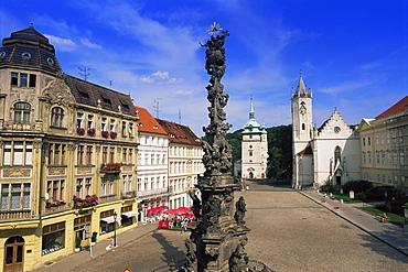 Town Square, Teplice, North Bohemia, Czech Republic, Europe