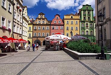 Town Square (Rynek), Jelenia Gora, Silesia, Sudeten Mountains, Poland, Europe