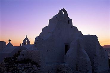 Church of Panagia Paraportiani, island of Mykonos, Hora, Cyclades, Greece, Europe
