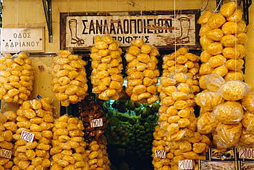 Sponges for sale in Plaka, Athens, Greece, Europe