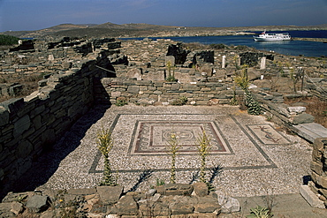 Archaeological site, Delos, UNESCO World Heritage Site, Cyclades islands, Greece, Europe