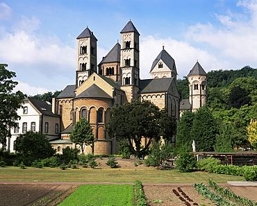 Maria Laach Abbey, Rhineland Palatinate, Germany, Europe