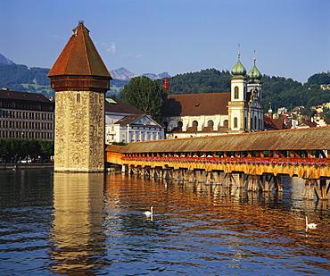 Kapellbrucke Bridge, Lucerne, Switzerland