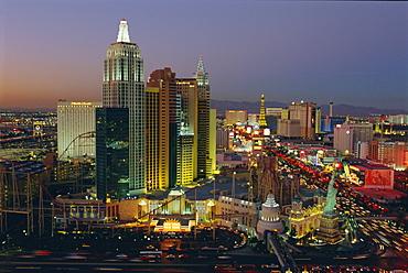 New York, New York Hotel and Casino and the Strip, Las Vegas, Nevada, USA