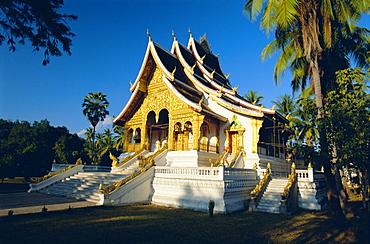 Ornate religious pavilion, the Haw Pha Bang, Royal Palace Museum, Luang Prabang, Laos
