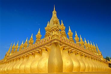 Gold stupas, Pha That Luang, Vientiane, Laos