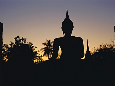 Buddha statue in the historical park, Old Sukothai / Muang Kao, Sukothai, Thailand, Asia