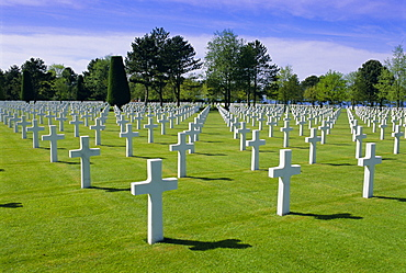 American cemetery, Colleville, Normandy D-Day landings, Normandie (Normandy), France, Europe