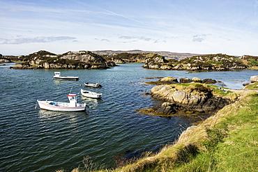 Granite coast near Dungloe, County Donegal, Ulster, Republic of Ireland, Europe