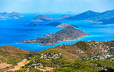 View north from Mountain Top on St. Thomas Island, U.S. Virgin Islands, Leeward Islands, West Indies, Caribbean, Central America
