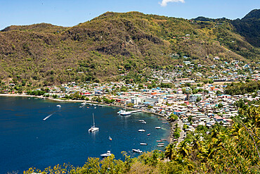 Town of Soufriere, Caribbean island of St. Lucia, Windward Islands, West Indies, Caribbean, Central America