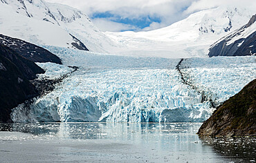 Garibaldi Glacier, north side of Beagle Channel, Tierra del Fuego, Chile, South America