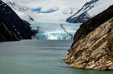 Glacier Garibaldi, north side of Beagle Channel, Tierra del Fuego, Chile, South America