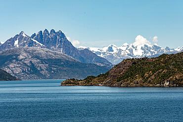 Amalia Fjord and Skua Glacier, Chilean Fjords, Chile, South America - 29-5590