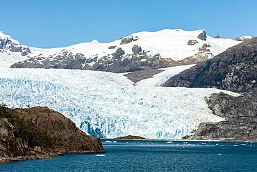 Asia Fjord and Brujo Glacier, Chilean Fjords, Chile, South America - 29-5594