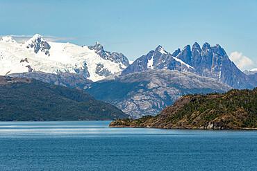 Amalia Fjord and Skua Glacier, Chilean Fjords, Chile, South America - 29-5595
