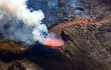 Fagradalsfjall volcano, S W Iceland, active vent during the eruption of July 2021