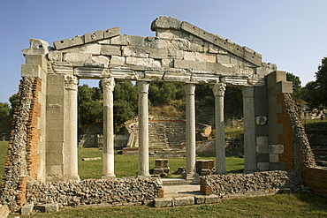 Ancient city, with theatre, Apollonia, Albania, Europe