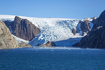 Glacier, Prince Christian Sound, southern Greenland, Polar Regions