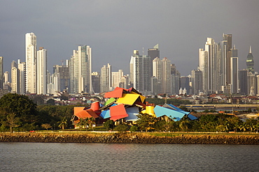 Panama City Skyline at dusk, Panama, Central America