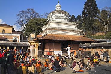 Sadhus (Holy men) at Shivaratri festival, Pashupatinath Temple, Kathmandu, Nepal, Asia