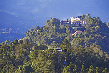 View of city from Tashi Viewpoint of Royal Palace monastery, Gangtok, Sikkim, India, Asia