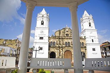 Metropolitan Cathedral, Independence Plaza (Main plaza), Casco Viejo also known as San Felipe, Panama City, Panama, Central America
