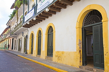 Street in Casco Viejo, Panama City, Panama, Central America