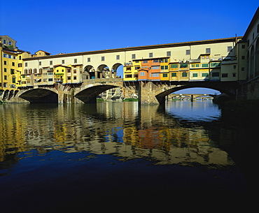 Ponte Vecchio Over the River Arno, Florence, Italy