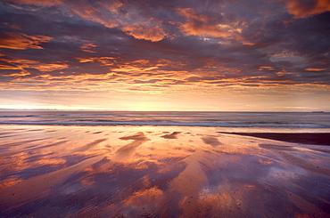 Sunrise, Alnmouth Beach, Alnmouth, Alnwick, Northumberland, England, United Kingdom, Europe