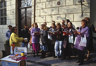 Salvation Army singers, Dresden, Germany *** Local Caption ***