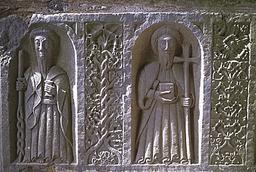 Tomb sculpture, Jerpoint Abbey, Co Kilkenny, Ireland *** Local Caption ***