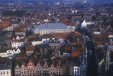 Old town panorama from Belfry, Bruges, Belgium *** Local Caption ***