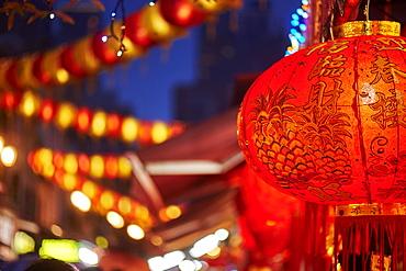 Lantern detail, Chinatown, Singapore, Southeast Asia, Asia