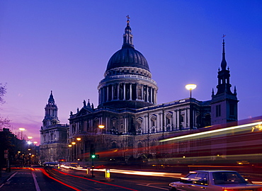 St Paul's Cathedral in the evening, London, England, UK