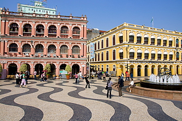 Senate Square (Largo de Senado), Macau, China, Asia
