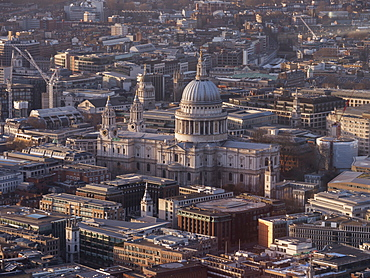 St. Paul's Cathedral from above, London, England, United Kingdom, Europe