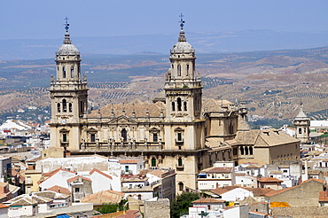 West face of the Cathedral, Jaen, Andalucia, Spain, Europe