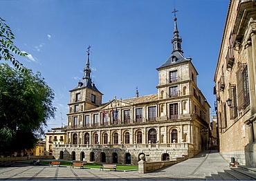 City hall, Plaza del Ayuntamiento, Toledo, Castile-La Mancha, Spain, Europe