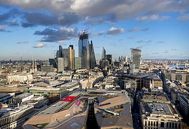 City of London from St. Pauls, London, England, United Kingdom, Europe