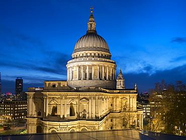 St. Pauls Cathedral dusk, London, England, United Kingdom, Europe