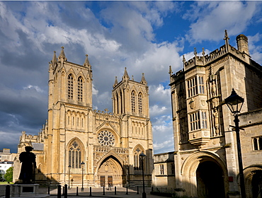 Cathedral on College Close, Bristol, England, United Kingdom, Europe